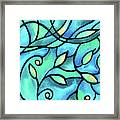 Leaves And Curves Art Nouveau Style II Framed Print