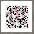 Leaves And Curves Art Nouveau Style Xii Framed Print