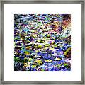 Lily  Pond Impressions Oil Painting Framed Print