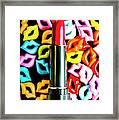 Lipstick Lips Framed Print