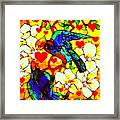 Love Birds In The Love Tree With Hibiscus Framed Print