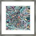 Map Style Art Background,bath City Framed Print