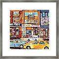 Morrie Heft Elizabeth Hager Le Chef Jj Joubert On Queen Mary Rd Stores C Spandau Montreal Framed Print
