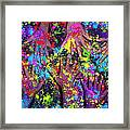 Multicoloured Powder Hands Panoramic Framed Print