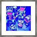 Neon Bar Framed Print