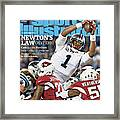 Newtons Law Revised Cam And The Panthers Keep Going Up Sports Illustrated Cover Framed Print