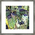 Night, Chicago, Illinois, Usa Framed Print