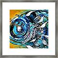 Ochre Fish Four Framed Print