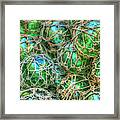 Old Glass Buoys Framed Print