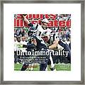 On To Immortality Patriots Are Super Bowl Xlix Champs Sports Illustrated Cover Framed Print