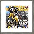 Pittsburgh Steelers Nate Washington And Santonio Holmes Sports Illustrated Cover Framed Print