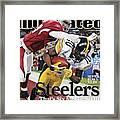 Pittsburgh Steelers Santonio Holmes, Super Bowl Xliii Sports Illustrated Cover Framed Print
