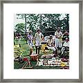 Polo Party Framed Print