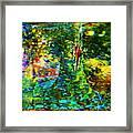 Redbird Singing Songs Of Love In The Tree Of Hope Framed Print