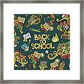 School And Education Doodles Hand Drawn Framed Print