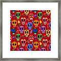 Seamless Pattern-mexican Day Of The Framed Print