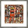 Seamless Pattern With Colorful Urban Framed Print