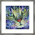 Stained Glass Cat Art Framed Print