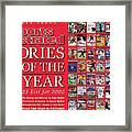 Stories Of The Year The Top 25 List For 2002... Sports Illustrated Cover Framed Print