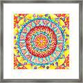 Sun Mandala Framed Print