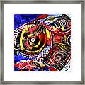 Swollen Red Cavity Fish Framed Print
