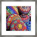 Traditional Colorful Baskets,bali Framed Print