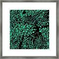 Trance Tree Neon Dark Framed Print