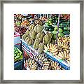 Tropical Fruit At A Street Market In Framed Print