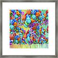 Tropical Print Balloons Framed Print