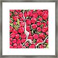 Tulips For Sale At A Flower Market Framed Print