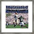 University Of Notre Dame Maurice Stovall Sports Illustrated Cover Framed Print