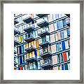 Urban Life Symbol, Densely Populated Framed Print