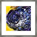 Violet Tri Fish Framed Print