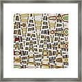 Wine Corks At An Angle Abstract Framed Print