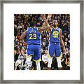 Draymond Green and Kevin Durant Framed Print