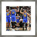 Stephen Curry and Kevin Durant Framed Print