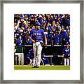 Alex Gordon and Jeurys Familia Framed Print