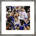 Anthony Rizzo, David Ross, and Jason Heyward Framed Print