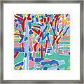 Blossoming spring garden landscape oil painting botanical rural colorful art Framed Print