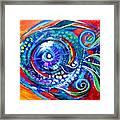 Colorful Comeback Fish Framed Print