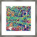 Forest river reflection landscape colorful psychedelic trees water lake Framed Print