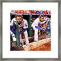 Hanley Ramirez and Yasiel Puig Framed Print