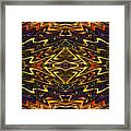 Microchip of an Ancient Mystic Framed Print