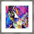 Monolithic Riff - Jimmy Page Framed Print