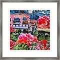 Pink and Blue Collage Framed Print