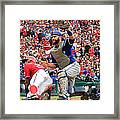 Russell Martin And Ian Desmond Framed Print