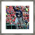 Shelby Miller And Carlos Gomez Framed Print