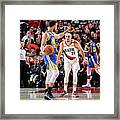 Stephen Curry and Seth Curry Framed Print