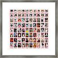 TIME 100 Women of the Year Poster -  For artist credits visit time.com/100-women-of-the-year Framed Print