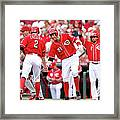 Todd Frazier, Homer Bailey, And Zack Cozart Framed Print